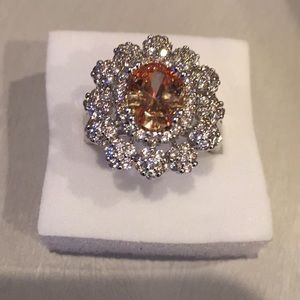 StampedS925(sterling silver)2.25CT Champagne topaz